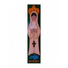 Virgen en Retablo de Madera Rosa Mística