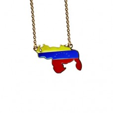 Venezuelan Map Necklace