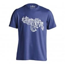 Venezuela Map T-Shirt Blue (Men)